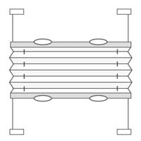 Alba optisk hvid - 7193 519 kr.   Plissegardiner